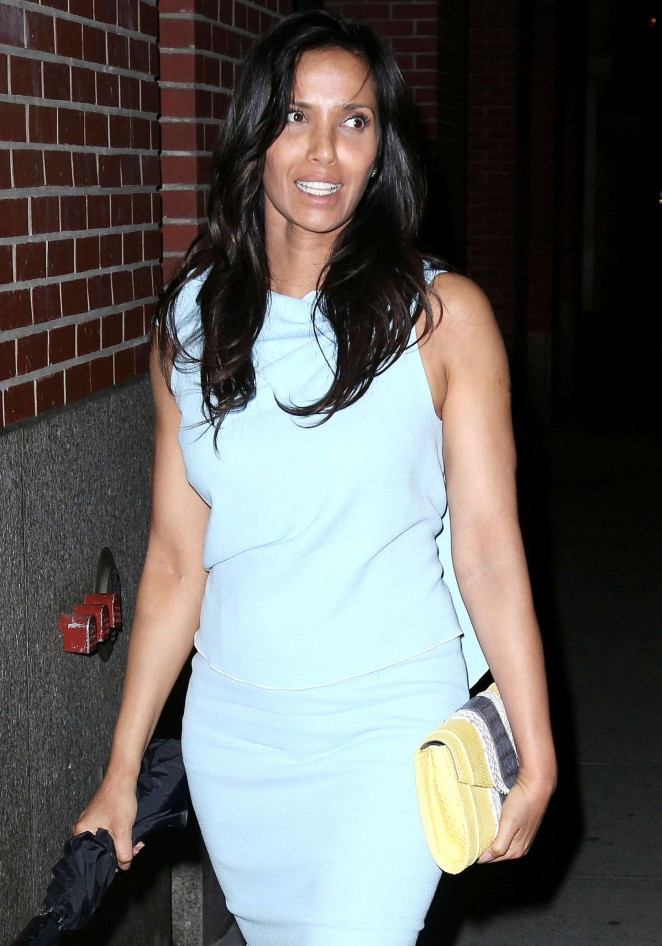 Padma Lakshmi in Tight Dress out in NYC