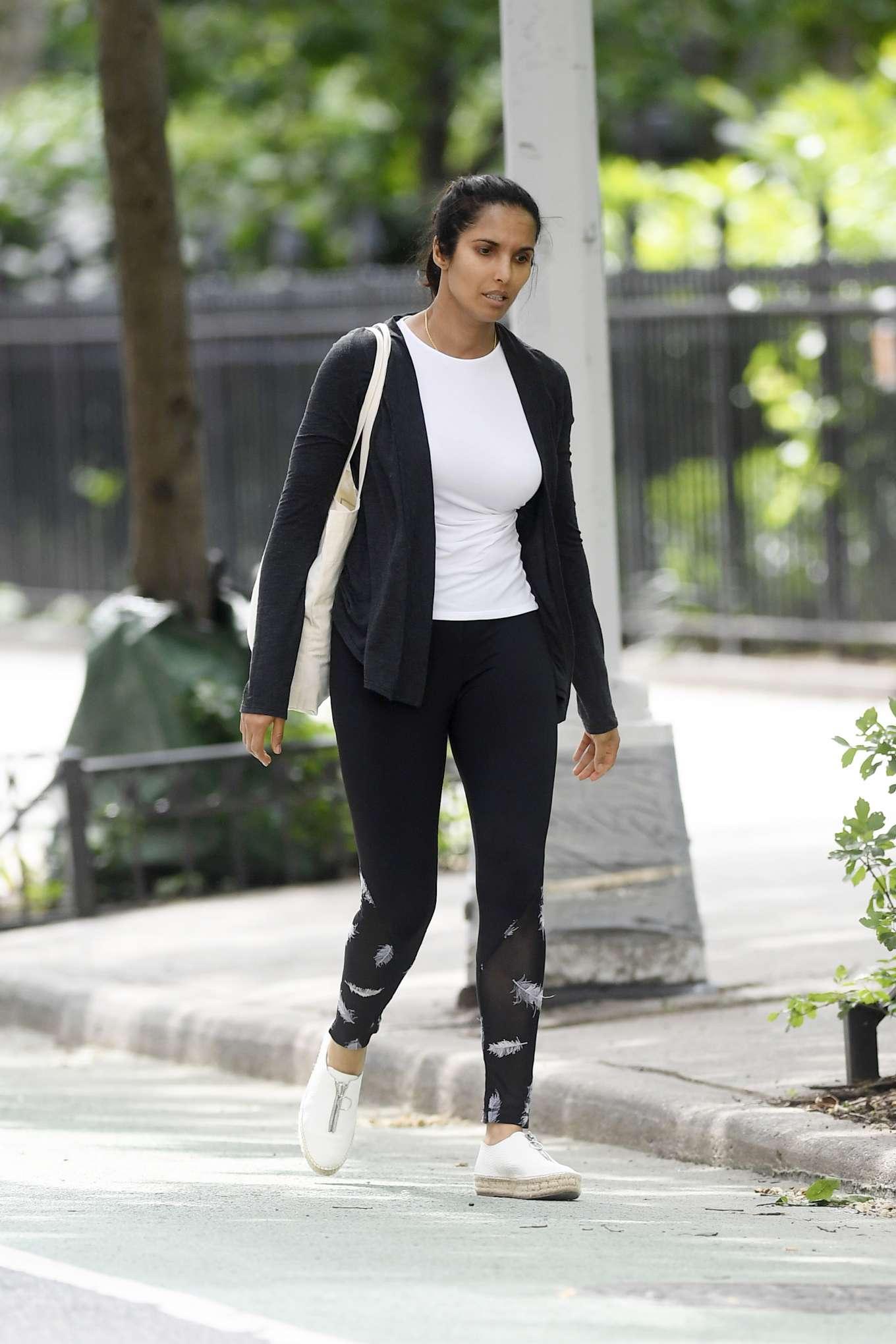 Padma Lakshmi - Leaving the Gym in New York City