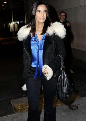 Padma Lakshmi - Leaving the Today Show in New York