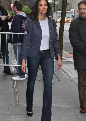 Padma Lakshmi - Leaving The View in NYC
