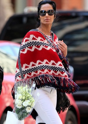 Padma Lakshmi in Tight Jeans out in New York