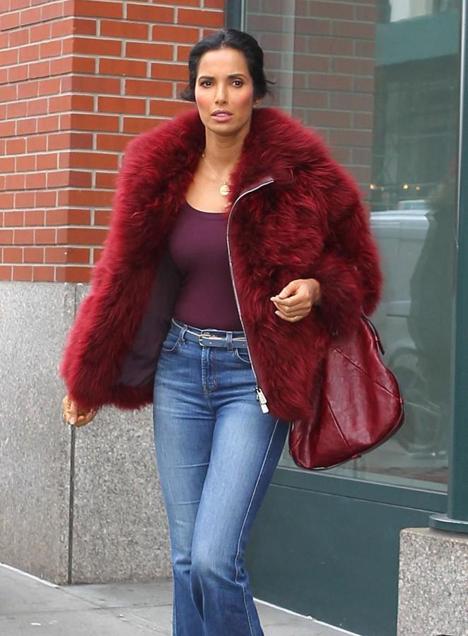 Padma Lakshmi Out in NYC