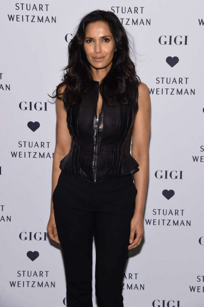 Padma Lakshmi - Stuart Weitzman's Launch to promote Gigi Boot in NYC