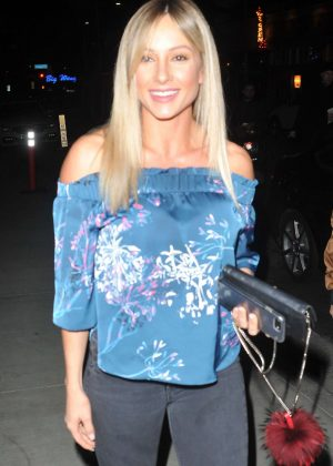 Page Hathaway at TAO restaurant in Los Angeles