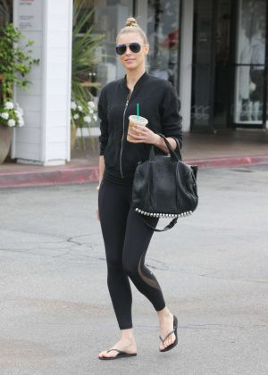 Paige Butcher in Tights out in Beverly Hills