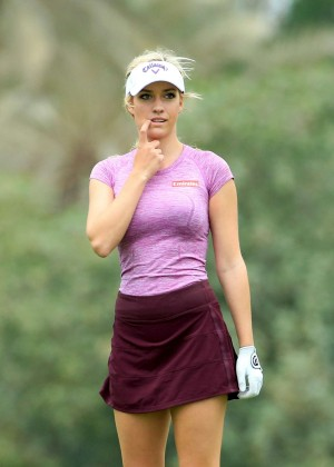 Paige Spiranac -  2015 Omega Dubai Ladies Masters and press conference