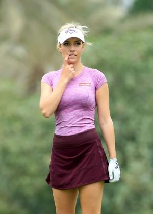 Paige Spiranac -  2015 Omega Dubai Ladies Masters and press conference
