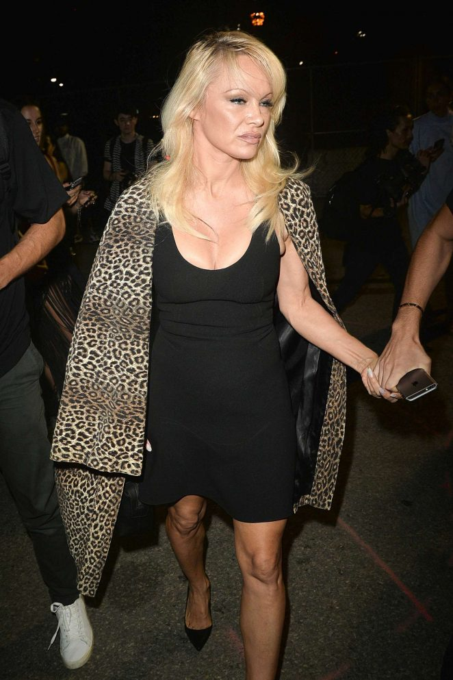 Pamela Anderson - Alexander Wang Spring 2017 Show in NY