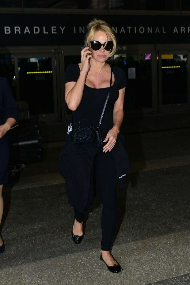 Pamela Anderson: Arrives at LAX International Airport-01