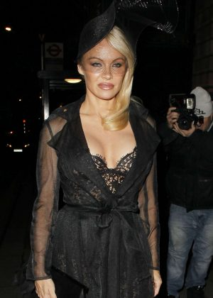Pamela Anderson - Arriving at Annabells Private members club in London