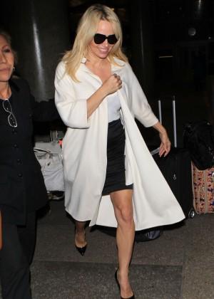 Pamela Anderson - Arriving at LAX in LA