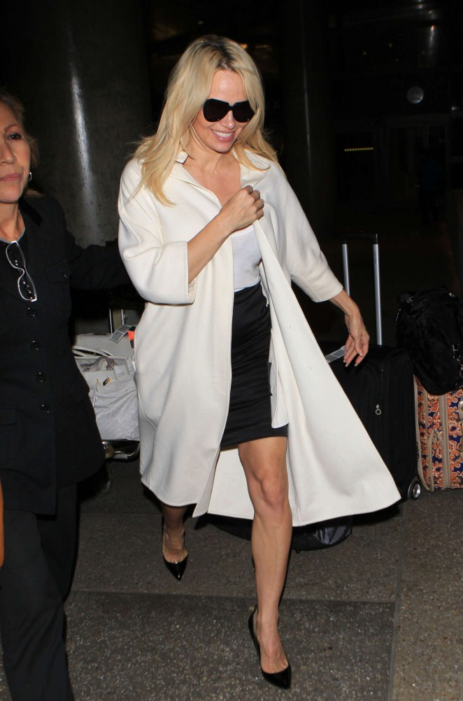 Pamela Anderson - Arriving at LAX in LA