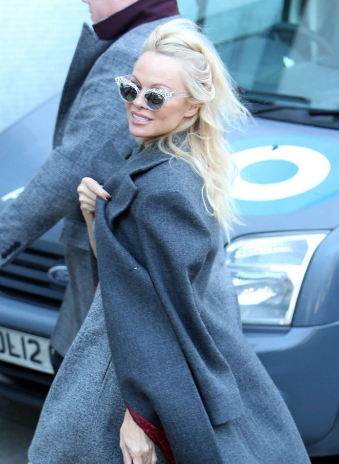 Pamela Anderson at ITV Studios in London