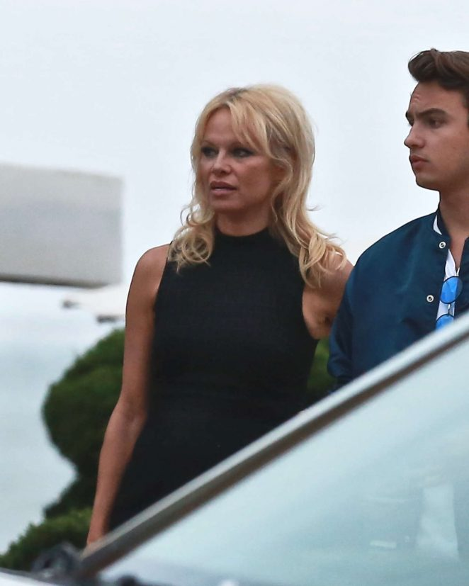 Pamela Anderson at Nobu in Malibu