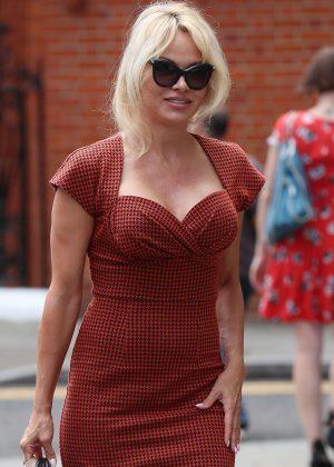 Pamela Anderson at the Ecuadorian Embassy in London