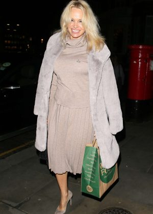 Pamela Anderson at the Ecuadorian Embassy in London