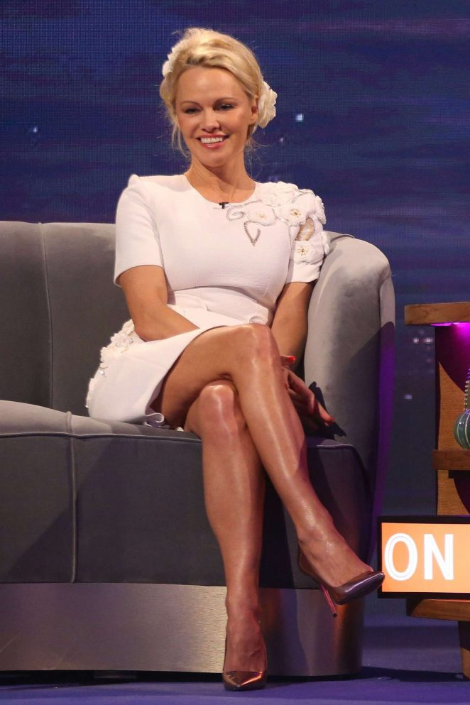 Pamela Anderson at 'The Nightly Show' TV Show in London