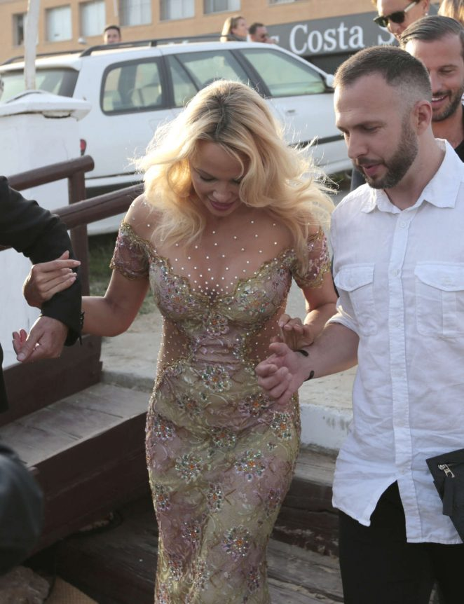 Pamela Anderson at the opening of Playa Padre -03
