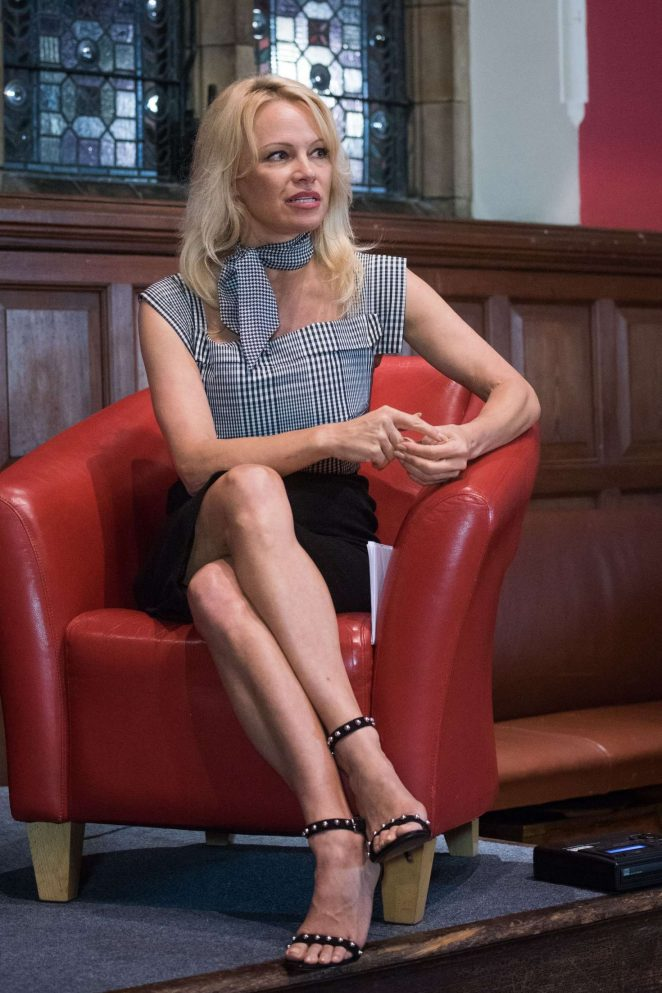 Pamela Anderson at the Oxford Union