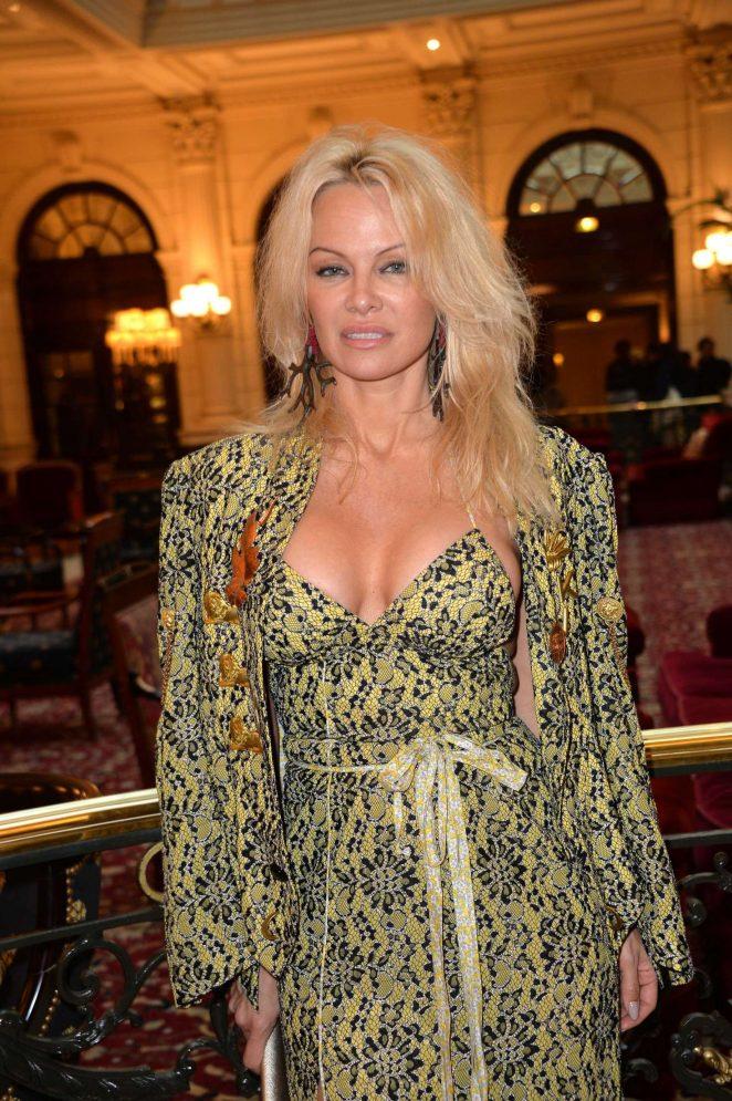 Pamela Anderson at Vivienne Westwood Fashion Show in Paris