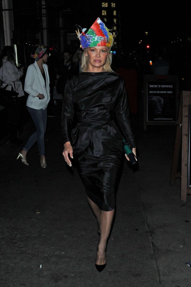 Pamela Anderson at Vivienne Westwoods Fashion club night -02