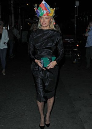 Pamela Anderson at Vivienne Westwood's Fashion club night in London