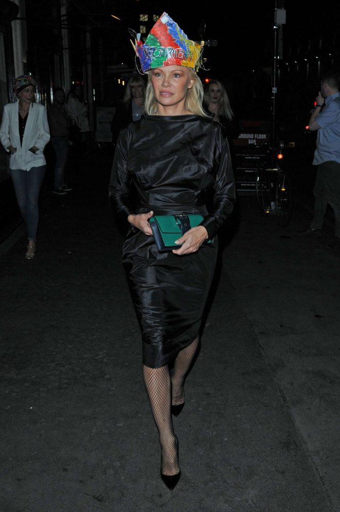 Pamela Anderson at Vivienne Westwoods Fashion club night -06