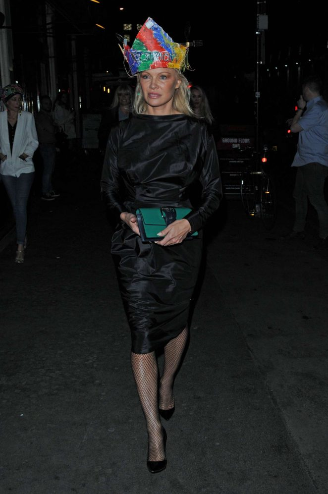 Pamela Anderson at Vivienne Westwoods Fashion club night -07