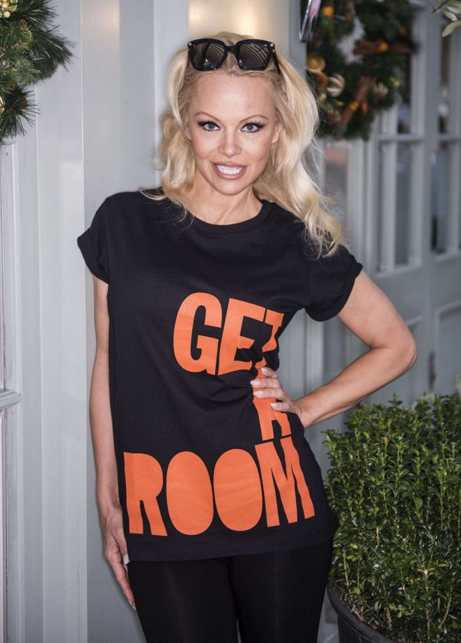 Pamela Anderson - Christmas Centrepoint Appeal in London