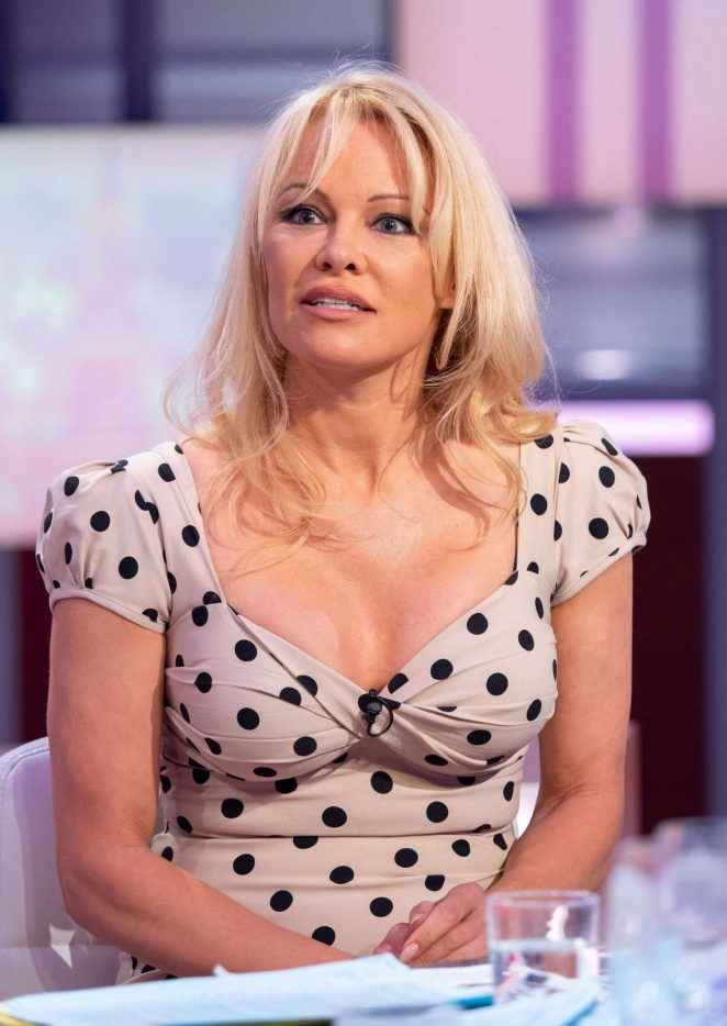 Pamela Anderson - 'Good Evening Britain' TV Show in London
