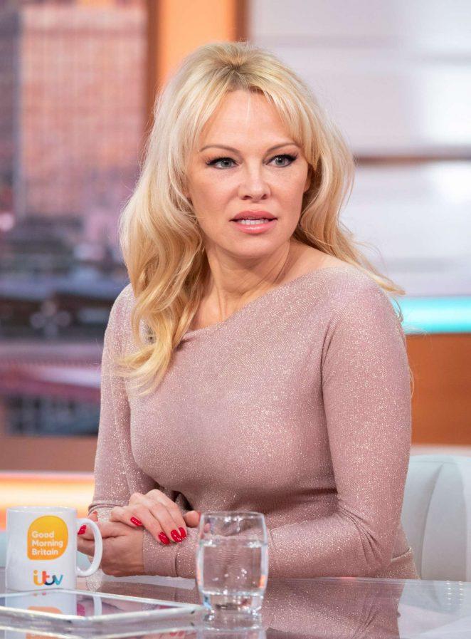 Pamela Anderson - 'Good Morning Britain' TV show in London