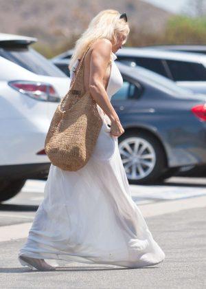 pamela anderson wedding dress