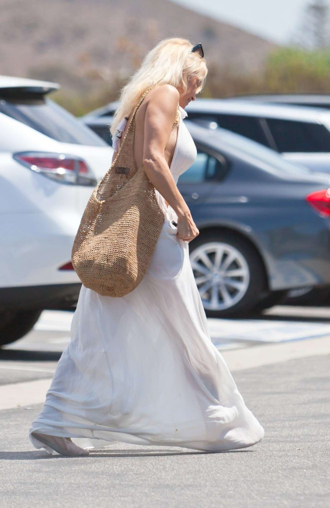 Pamela Anderson in Long White Dress -06 - GotCeleb