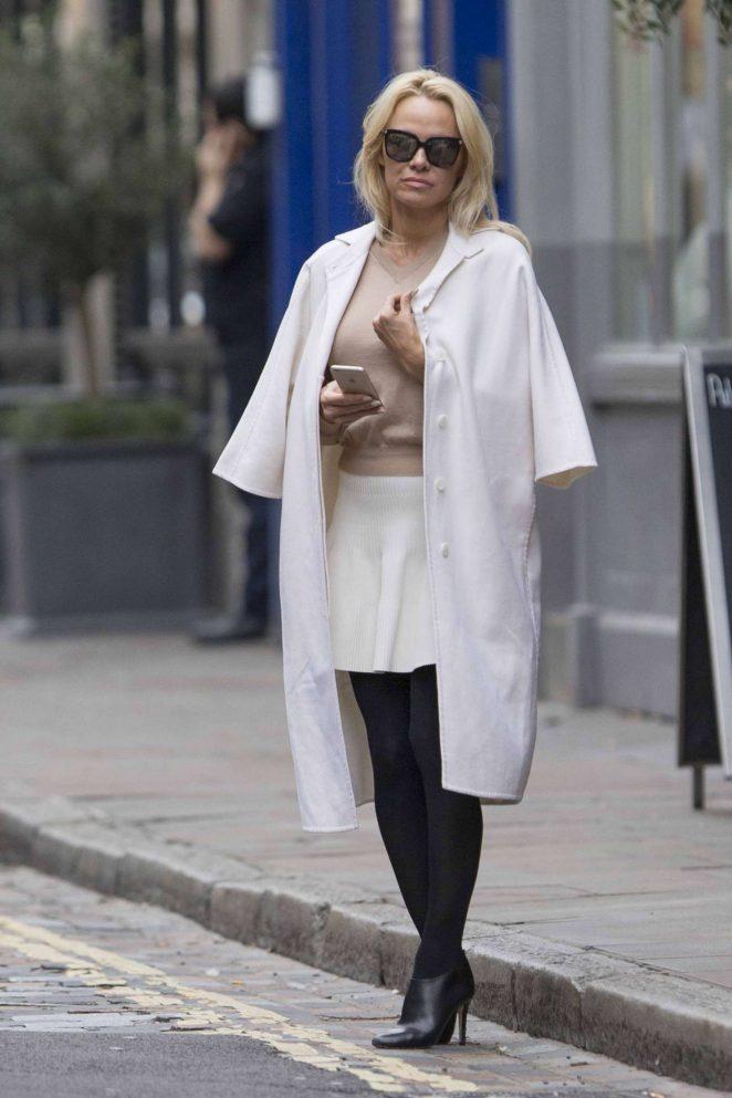 Pamela Anderson in White Skirt -03