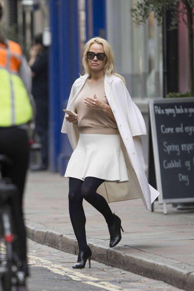 Pamela Anderson in White Skirt -07