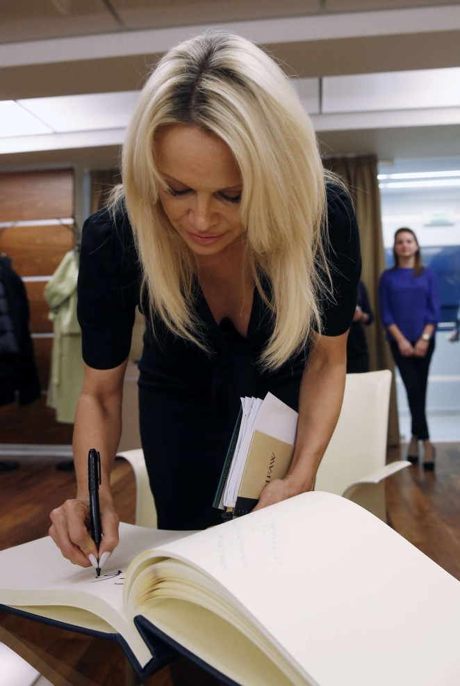 Pamela Anderson - International Fund for Animal Welfare in Moscow
