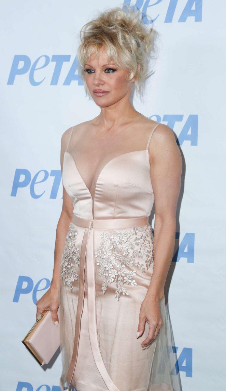 Pamela Anderson - LA Launch Party for Prince's PETA Song at PETA in Los Angeles