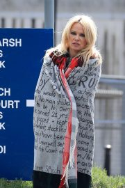 Pamela Anderson - Leaves Belmarsh Prison in London