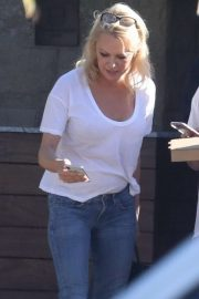 Pamela Anderson - Leaves Soho House in Malibu