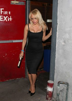 Pamela Anderson - Leaves the Troubadour in West Hollywood