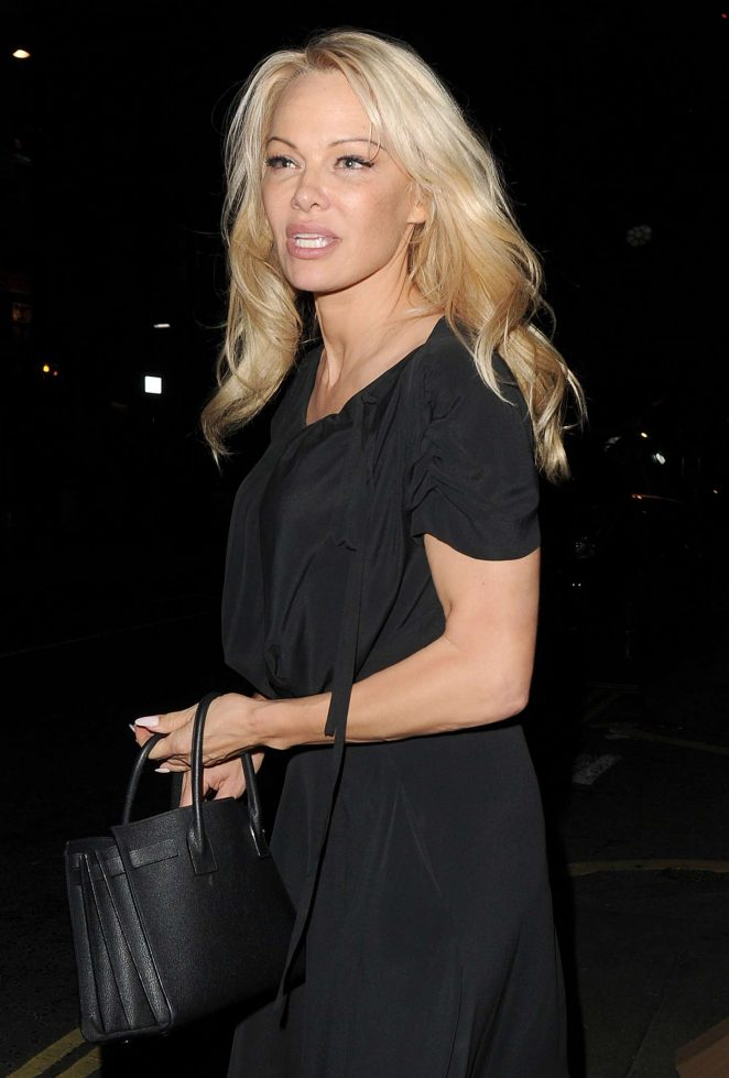 Pamela Anderson - Leaving at Frontline nightclub in London