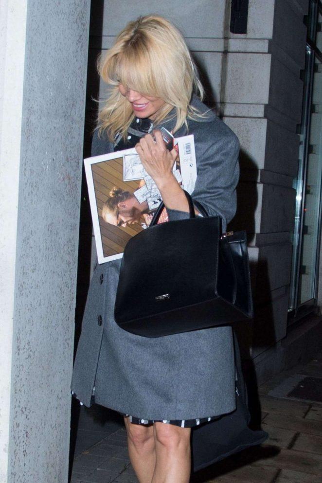 Pamela Anderson - Leaving Celebrity Juice Filming in London