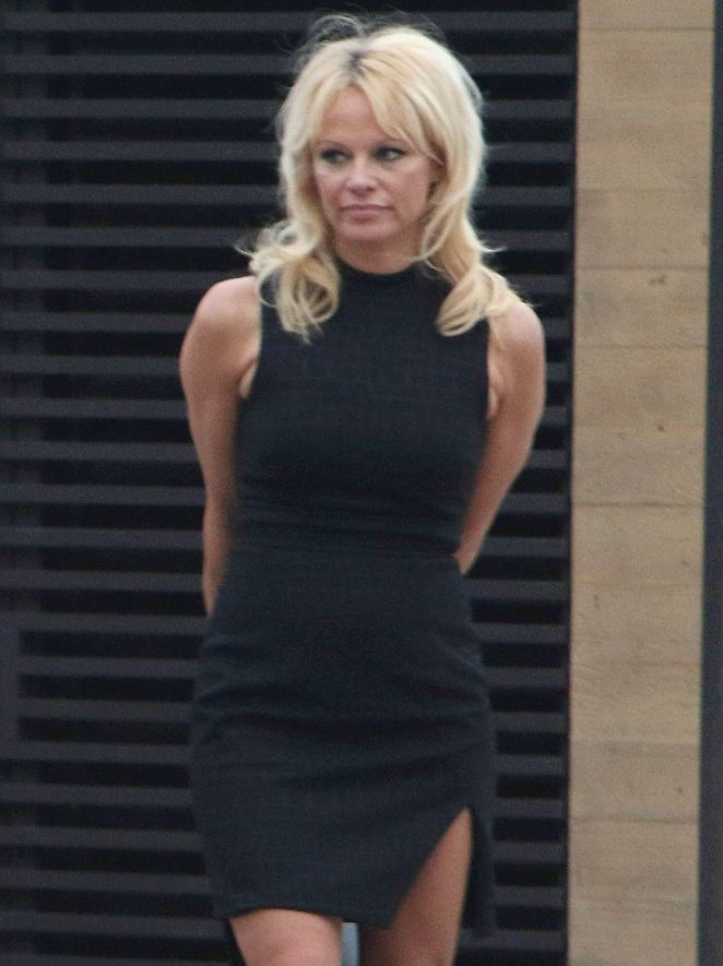 Pamela Anderson Leaving Nobu in Malibu