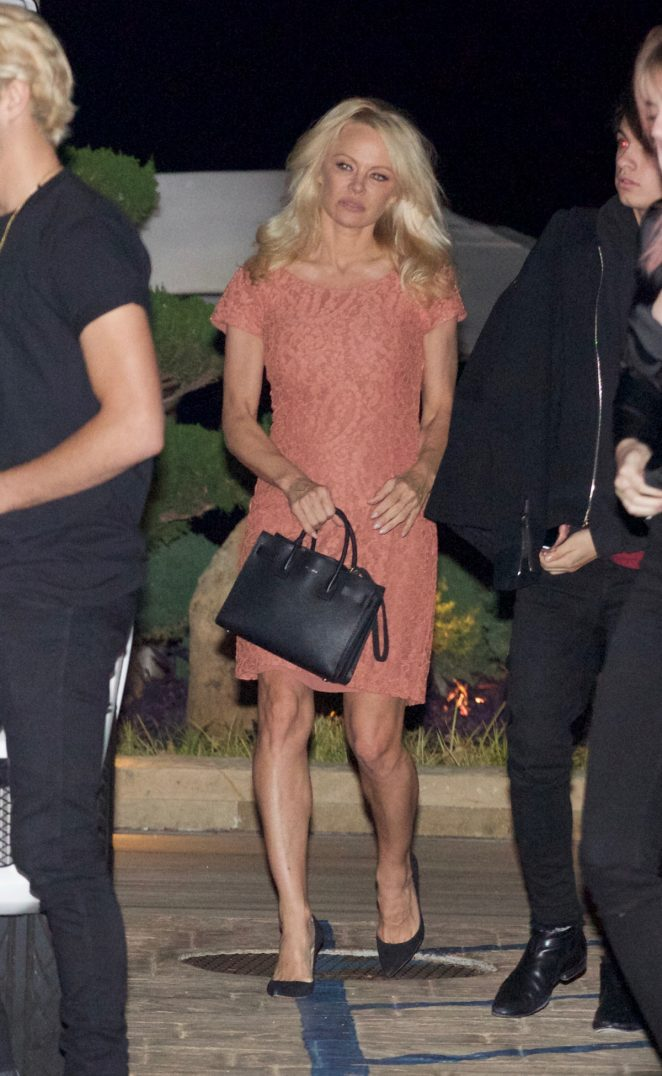 Pamela Anderson out for dinner in Los Angeles