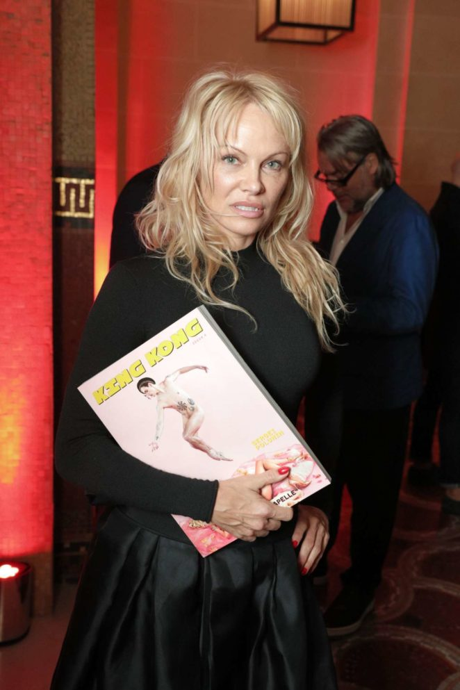 Pamela Anderson – Rochambeau and Aaron Curry Party in Paris