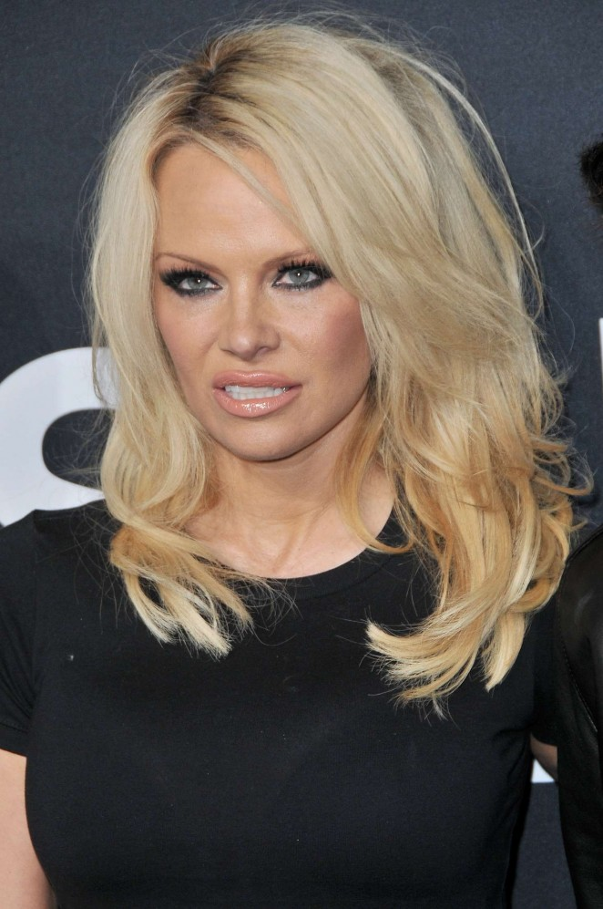 Pamela Anderson - Saint Laurent Show in Los Angeles