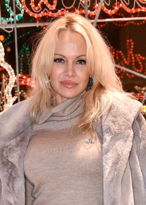 Pamela Anderson - Stella McCartney Store Christmas Lights Switching on Ceremony in London