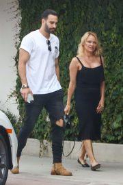 Pamela Anderson - With Her Boyfriend Adil Rami in Malibu