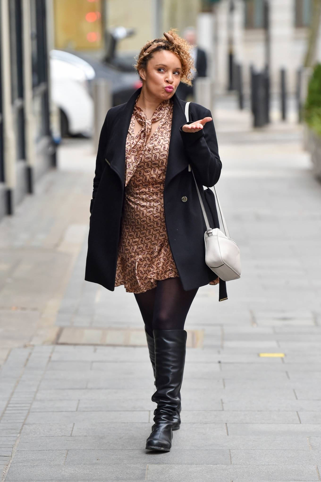Pandora Christie - Seen arriving for her Heart Radio show in London