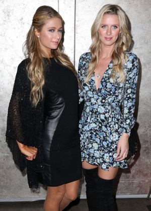 Paris and Nicky Hilton - DuJour Magazine Spring Cover Party in NYC